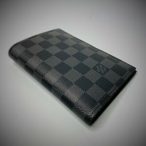 Louis Vuitton Canvas Damier Graphite Passport Cover Holder Case Wallet