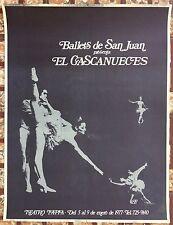 Ballet De San Juan El Cascanueces 1977 Teatro Tapia Cartel Poster Puerto Rico