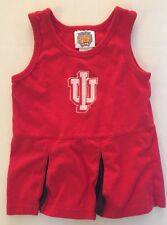 NCAA Indiana University Infant Cheer Dress Size 18 Mo. Red 60/40 Cotton/Poly