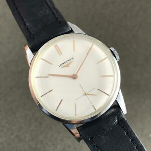 VINTAGE LONGINES REFERENCE 8888 31 CALIBER 30L S STEEL SWISS WATCH FROM Ca 1960