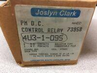 NEW IN BOX JOSLYN CLARK 95VDC COIL 3POLE 230VDC CONTROL RELAY 4U3-1-095 / 73958