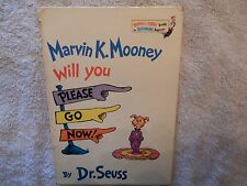 """Dr. Seuss Book, """"Will You Please Go Now!"""", by  Marvin K. Mooney, 1972, Rare find"""