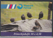 Isole Fær Øer 1998 ** mi.332/33 (mh15) ANIMALI ANIMALS | UCCELLI BIRDS | BECCACCIA & Star