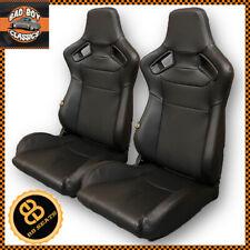 BB6 Rs Schwarz Verstellbarer Neigung Racing Eimer Sitze Paar Lauf Nicht Enthält