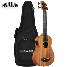 New Kala U-Bass Nomad Mahogany Acoustic Electric Bass Ukulele with Padded Bag