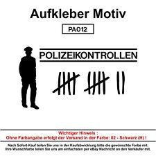 Polizeikontrollen - Autoaufkleber Aufkleber Fun Spaß Sticker Lustige Sprüche