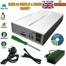 3.5 ESATA Aluminium USB2.0 External Hard Drive HDD Enclosure Caddy Case Computer