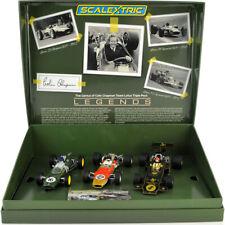 Scalextric C4184 el genio de Colin Chapman Lotus Grand Prix Triple Pack 1/32 ranura de coche