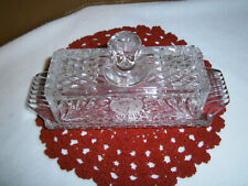 Frosted Rose Butter Dish