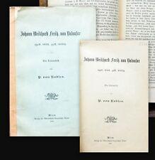 1896 Slowenien Radics Johann Weikhard Freih. von Valvasor Ein Lebensbild