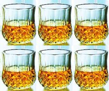 More details for real crystal glass wine water whiskey champagne drink glasses diamond tumbler uk