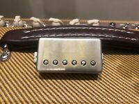 Lindy Fralin Pure PAF Humbucker Pickup Bridge RAW NICKEL Cover Vintage P.A.F.