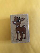 Hampton Arts Studio G Rudolph The Red Nose Reindeer Stamp