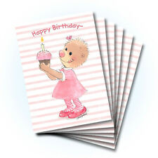 Suzy's Zoo Happy Birthday Greeting Card 6-pack 10374