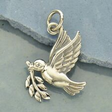 Sterling Silver Peace Dove Charm - Christmas Charm