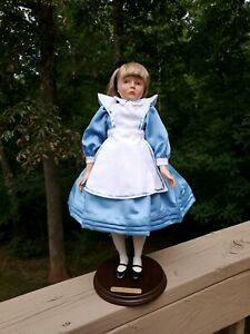 "Unique ""Alice In Wonderland"" 18.5"" Doll By Faith Wick 1985, Silvestri Mint!"