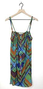 Mara Hoffman Button Front Mini Dress Size Medium Lightweight Beach Cover Up
