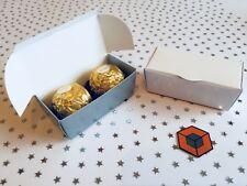 TRUFFLE ~~~ Silver, White, Kraft  Wedding / jewellery favour gift boxes