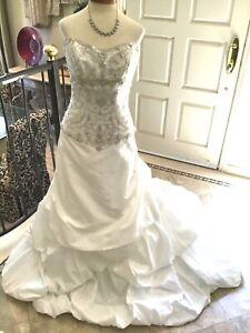 Maggie Sottero ROMA NEW Wedding dress Bridal ball gown Corset Diamond White 12