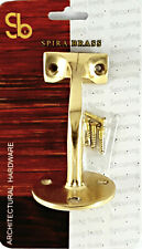Handrail Bannister Bracket Solid Brass Balustrade Stairs Wall Support - Pack