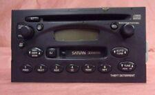00-05 SATURN S SERIES L SERIES VUE ION AM/FM CASSETTE CD PLAYER RADIO # 21024009
