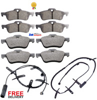MINI R50 R53 ONE COOPER S (2001-2006) FRONT & REAR BRAKE PADS & SENSORS SET NEW