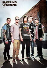 "SLEEPING WITH SIRENS ""BAND STANDING TOGETHER"" POSTER FROM ASIA-Post-hardcore,Emo"