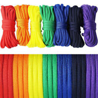 7Pcs Rainbow Color Paracord Ropes for Camping DIY Bracelets Collars Cord Set