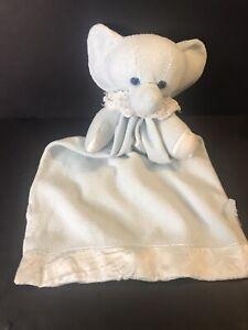 """Dakin BLUE BOY BABY ELEPHANT SECURITY BLANKET LOVEY PLUSH TOY HEART 23"""" Long"""
