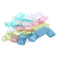 25 Pcs Multicolore Plastique Cle ID etiquettes avec anneau fendu porte-cles B7R8