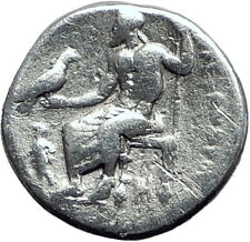 ALEXANDER III the GREAT 323BC Authentic Ancient Silver Greek Coin w Zeus i64694