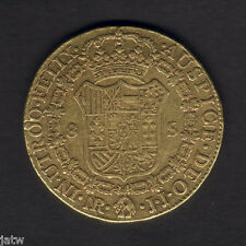 Colombia. 1801 NR-JJ Gold 8 Escudos.. Charles 1111..  F+/aVF - Trace Lustre