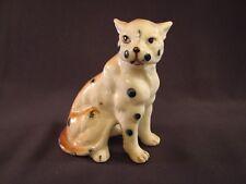 "Vintage Cougar Figurine Porcelain Hand Painted 3 3/4"" T"