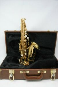 Artemis Soprano Saxophone In Hard Leather Case Untested Beginner Model