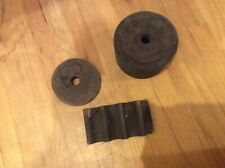 3 Antique Rare Wood Gear Wheel Foundry molds - Americana Steampunk