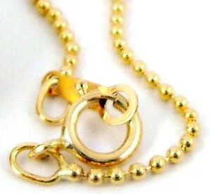 "18"" round ball bead 14k yellow gold filled chain necklace made in USA 1/20 GF"