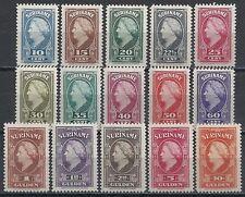 Surinam 1945 NVPH 229-243  MLH  VF