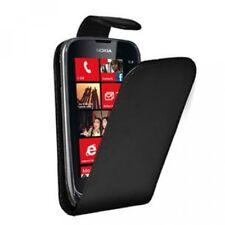 Etui coque a rabat pour Nokia Lumia 620 leather case black slim façon cuir noir