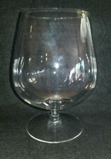 VTG Elegant Clear Glass Wine Brandy Cognac Balloon Snifter 6 IN Footed Stem