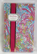 Lilly Pulitzer Hardcover Journal Pink Blue Coral Scuba to Cuba Lined Stationery