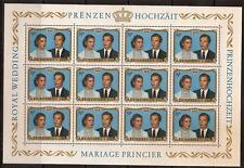LUXEMBOURG 1981 ROYAL WEDDING SC # 662a MNH