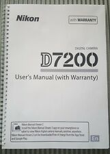 ~PRINTED~ Nikon D7200 User guide Instruction manual  A5 420 pages