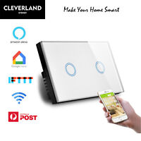 AU Smart Home WiFi Switch Wall Touch Light Lamp Panel APP Control Alexa Google
