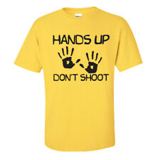 Hands Up Don't Shoot T-Shirt - BLM Racism Trump USA - Adults & Kids - Yellow