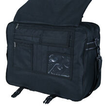Black Extra Large Flight Messenger Bag with Organiser - Holds Lever Arch A4 fold