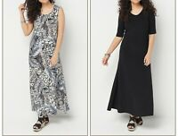 A375422 Attitudes by Renee Set of 2 Printed & Solid Maxi Dresses ANIMAL PXS-272