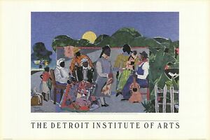 ROMARE BEARDEN Quilting Time 24 x 29.5 Poster 1997 Multicolor
