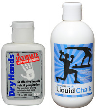 Dry Hands 2oz + Sport Grip Liquid Chalk 250ml  x For a Mighty Strong Grip