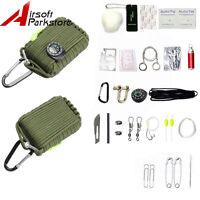 Outdoor 550 Paracord 29 Tools Survival Pod Kit Hunting Military Camping Hiking
