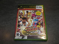 JEU XBOX STREET FIGHTER ANNIVERSARY COLLECTION COMPLET CAPCOM OCCASION